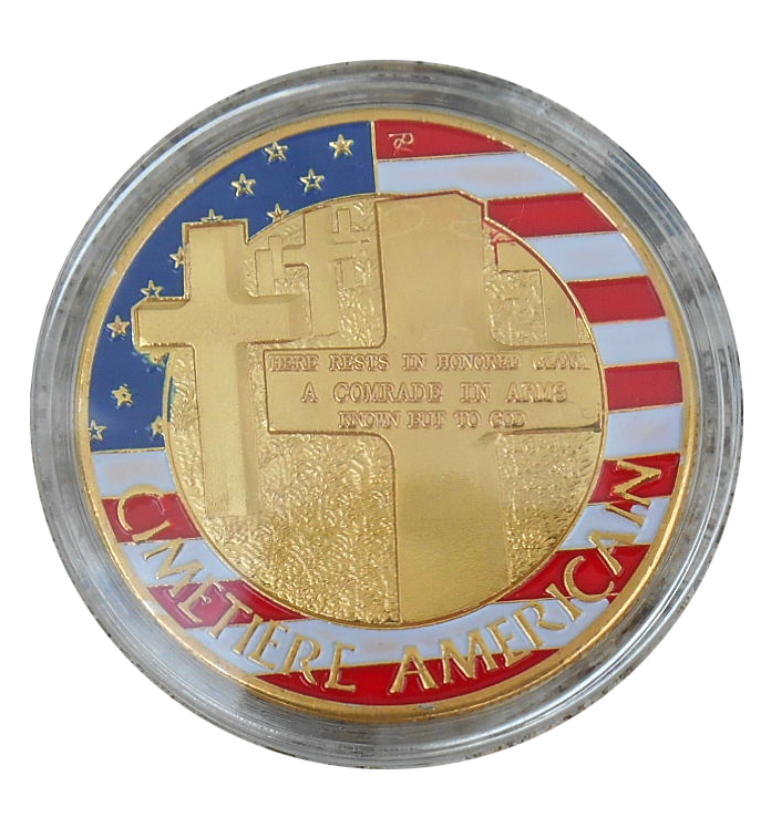 OMAHA BEACH and US cemetery commemorative coin