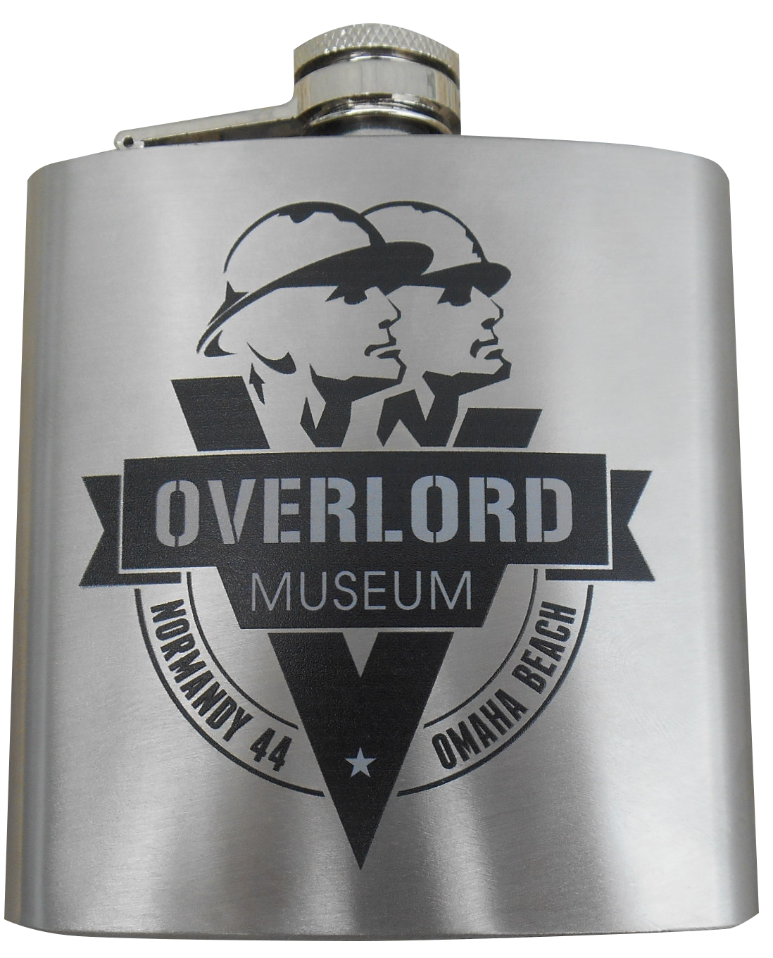 Engraved OVERLORD MUSEUM flask