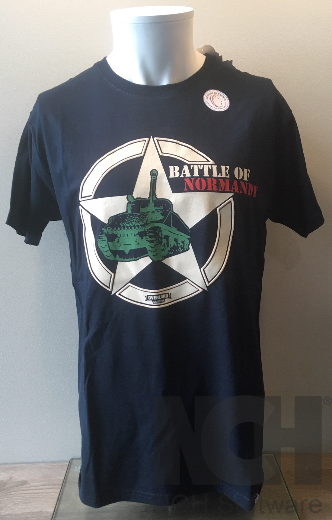 Tee-shirt Battle bleu